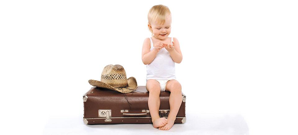 Alimentação das crianças em viagens