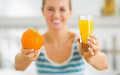 Por que oferecer frutas em vez de sucos?
