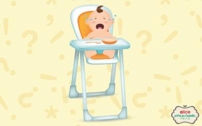 Entenda porque as primeiras comidinhas do bebê não devem ser ofertadas no cadeirão!